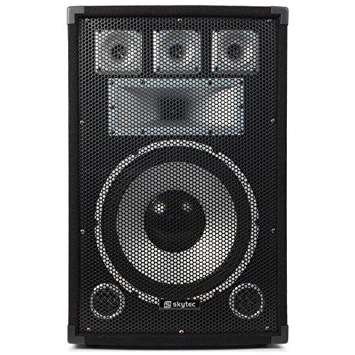 PA Komplettset Warm Up Party PA Lautsprecher Verstärker Set (2x 30cm (12 Zoll) Passiv-PA-Box, je 200W RMS, 700W PA Endstufe, inkl. Lautsprecherkabel) schwarz - 12-zoll-subwoofer Spl