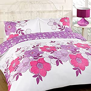 Dreamscene Duvet Quilt Cover Bedding Set - Pollyanna - All Colours and Sizes