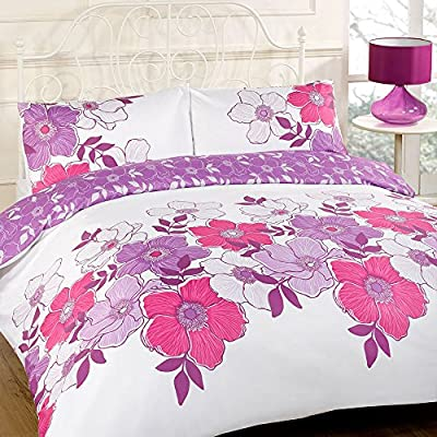 Pollyanna Purple Duvet Bedding Set - Single-Double-King Size-Super King Size produced by Dreamscene - quick delivery from UK.