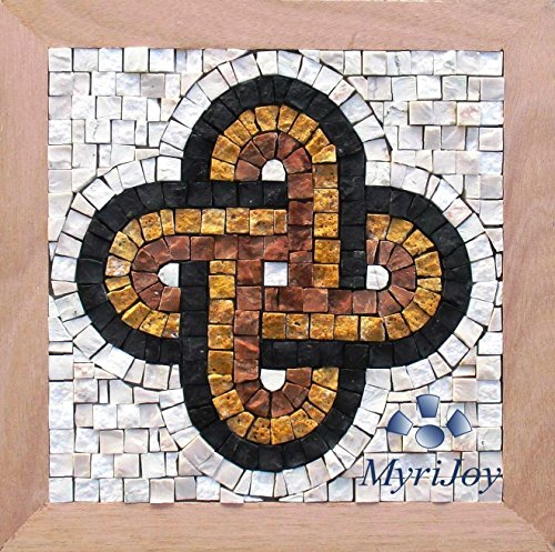 Mosaic craft kit for adults Solomon's knot - Italian marble mosaic tiles - Make your own Roman mosaics wall art - DIY Anniversary gift ideas