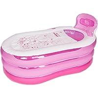 Baignoires Gonflables Baignoires pour Adultes Baignoires Pliantes Baignoires PVC (rose)