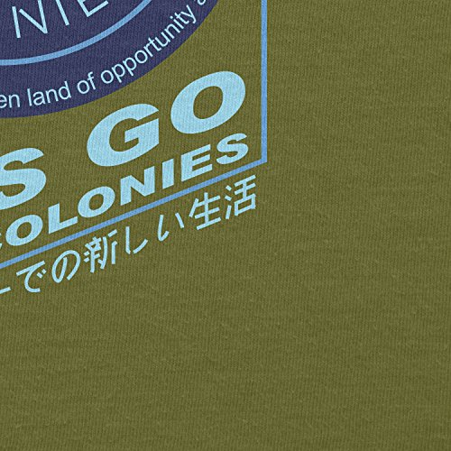 TEXLAB - Off World Colonies - Herren T-Shirt Oliv