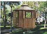 Bambus-Pavillon Gartenmöbel Partyzelt Gazebo Pavillion Gartenzelt