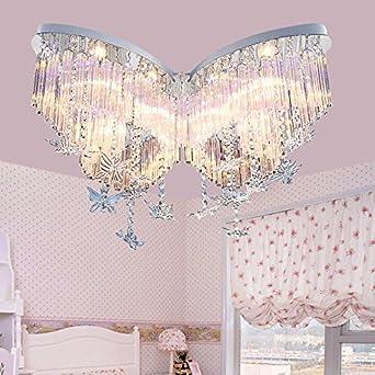 Lilamins Schmetterling Crystal Mdchen Kinder Licht Kreative Beleuchtung Fr Wohnzimmer Bad Schlafzimmer Und Esszimmer LED Deckenleuchten