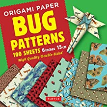 """Origami Paper 100 sheets Bug Patterns 6"""" (15 cm): Tuttle Origami Paper: High-Quality Origami Sheets Printed with 8 Different Designs: Instructions for 8 Projects Included"""