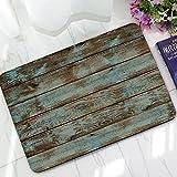 zmvise Vintage vertikalen Streifen Holz Muster oder Star Flagge Print schmutzabweisend Farbe Fußmatte Fußmatte Indoor Outdoor Mats, Polyester, stil 1, 40 x 60 cm