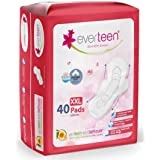 everteen XXL Sanitary Napkin Pads with Cottony-Soft Top Layer for Women Enriched with Neem and Safflower – 1 Pack (40…