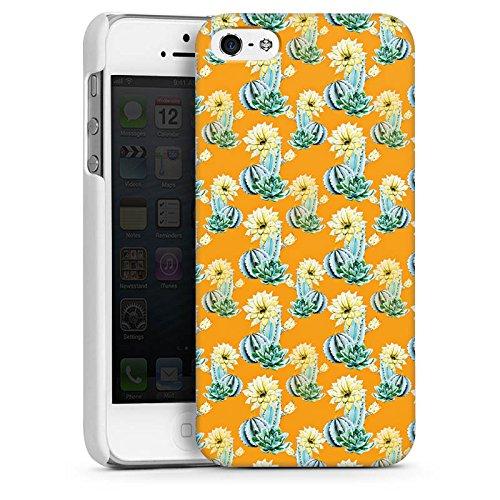 Apple iPhone SE Housse Outdoor Étui militaire Coque Cactus Motif Motif CasDur blanc