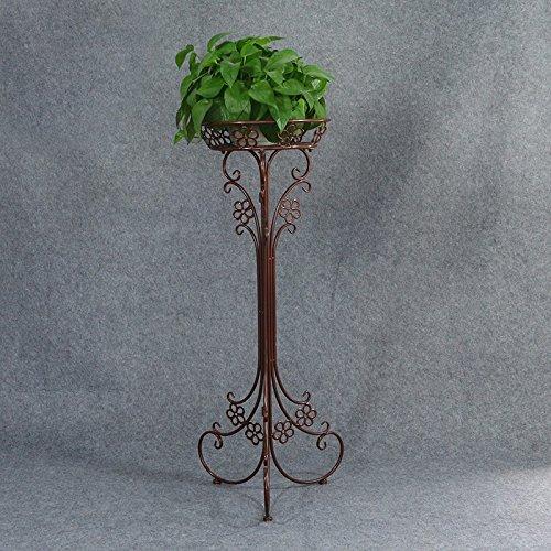 QFF Europäische Einschicht-Eisen-Blumen-Rack ( Farbe : Braun )