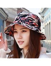 YXLMZ Señoras Mujeres Sombreros Algodón Primavera Verano Sello Visor Exterior  Sombreros Sunscreen Flores Madre Cap 55 8b23a18bcd3