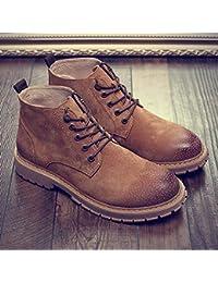 c382ac715d0 LOVDRAM Chaussures En Cuir Pour Hommes Bottes D Hiver En Coton Tide  Chaussures Montantes Pour