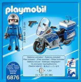 PLAYMOBIL 6876 - Motorradstreife mit LED-Blinklicht -