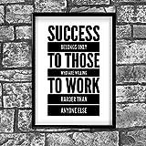 Erfolg motivierendem positiven Gedanken Zitat Poster Bild Kunstdruck Wand 49 - A4 (21 x 30 cm)