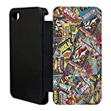 Superhero Comic Book Strips Flip Case Cover for Apple iPhone 6 Plus - A1359 - Comic Book