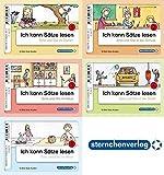 Ich kann Sätze lesen - 90 Bild-Satz-Karten mit Selbstkontrolle: 5 verschiedene Themen mit je 18 Bild-Satz-Karten