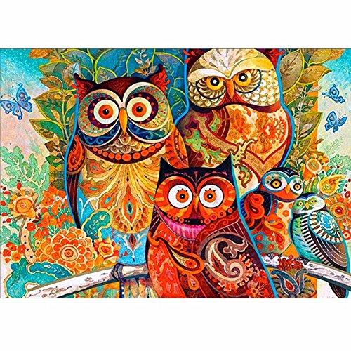 amant-Kits, 5D Diamant Gemälde Set Animal Eule Owl Muster Home Decor DIY Art Wand Stickerei aus Kunstharz Handgefertigt Arts Craft Weihnachten Multi ()