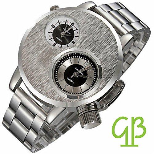 geniessen-uhr-armbanduhren-metall-zwei-zifferblatt-modern-style-silber