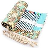 Minhe Tela Wrap per 72 Matite Colorate, Roll up Portatile Portapenne Supporto Matita