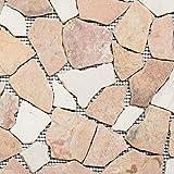 Mosaik Fliese Marmor Naturstein beige rot Bruch Ciot RossoCream für BODEN WAND BAD WC DUSCHE KÜCHE FLIESENSPIEGEL THEKENVERKLEIDUNG BADEWANNENVERKLEIDUNG Mosaikmatte Mosaikplatte