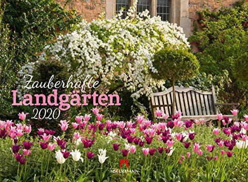 Zauberhafte Landgärten 2020, Wandkalender im Querformat (45x33 cm) - Gartenkalender mit Monatskalendarium