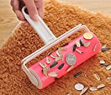 Happy Little oveja reutilizable lavable Home Sheet Pet Hair Removedor de polvo de ropa de limpieza Sticky Lint Roller-Pink