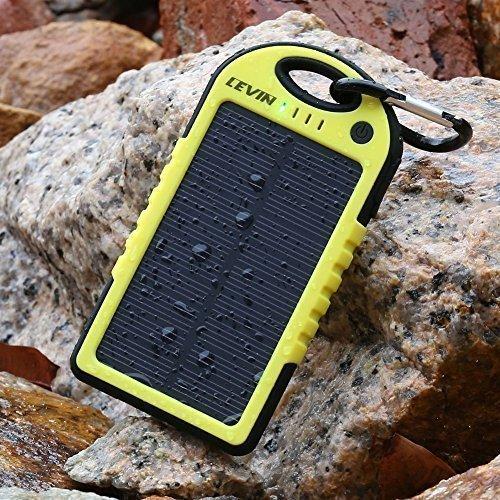 Levin Caricabatterie Pannello Solare 5000mAh Resistente...