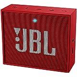 JBL GO Ultra Speaker Bluetooth, Ricaricabile, Portatile con Ingresso Aux-In, Microfono per Chiamate in Vivavoce, Compatibile con Smartphone, Tablet e Dispositivi MP3, Rosso