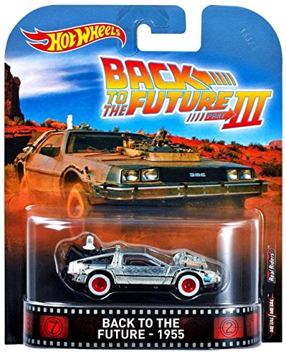 DeLorean Time Machine Back To The Future III 1955 Retro Entertainment 1:64 Hot Wheels DWJ77 (Back To The Future Time Machine)
