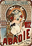 metal Signs 1898 Abadie Cigarette Papers Vintage Look Reproduktion Metall Blechschild 17,8 x 25,4 cm