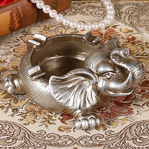 kreative persönlichkeit silber elefanten retro - dekoration aschenbecher, aschenbecher,f - 16 * 8 cm -