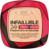 L'Oréal Paris Fondotinta Compatto Infaillible 24H Fresh Wear, Formula in Polvere, Mask-Friendly, Low-Transfer e Waterproof, C