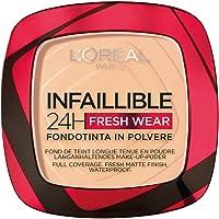 L'Oréal Paris Fondotinta Compatto Infaillible 24H Fresh Wear, Formula in Polvere, Mask-Friendly, Low-Transfer e…