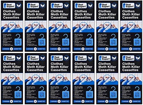 Pest Expert Cassettes de Tueur de Mite (12x paquet double) Nouveau au Marché Formulation Inodoré Avancée