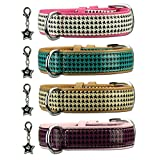 Kunstleder Hundehalsband Coco´s Choice Hundehalsband Lederhalsband Pink 45cm / 30mm
