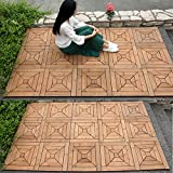 Anti-korrosion floor outdoor wood parkette diy wood parkette massivholz fliese ground mat-A