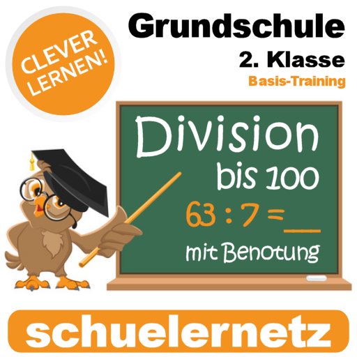 Grundschule 2. Klasse Bruchrechnen (Division) bis 100
