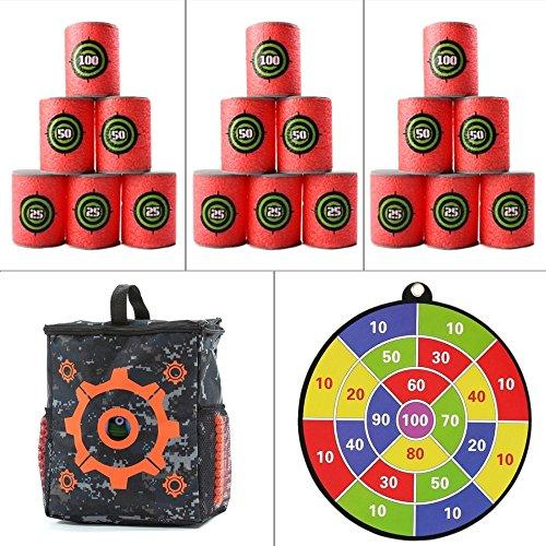 Set pack bolsa de almacenaje/diana, botes objetivos, targets y diana, by Level25
