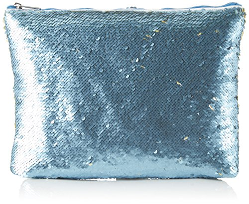 XYXYX - Sequins Bag, Sacchetto Donna Mehrfarbig (Lt. blue/lt. YELLOW)