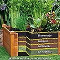 Gärtner Pötschke Hochbeet Klassik quadratisch, stapelbar, Akazie von Gärtner Pötschke bei Du und dein Garten