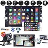 Yiruy Car 2 Din MP5 Player 7 Pouces HD Écran Tactile Radio Stéréo avec Caméra Inverse Miroir Link Connect DVR...