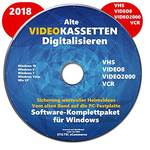 VHS Video-Kassetten selber digitalisieren Software Komplettpaket PREMIUM NEU 2018