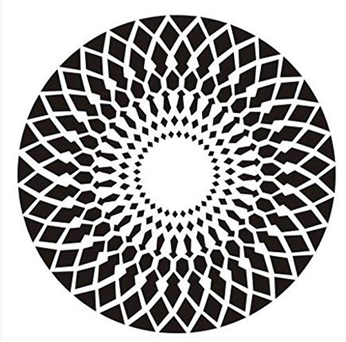 Nordic Einfache moderne Mode Geometrische Teppich Wohnzimmer Schlafzimmer Nachttisch Teppich Studie Computer Stuhl Runde Teppich (Schwarz-Weiß-Muster) (größe : Diameter 160cm)