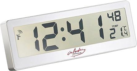 Infactory LCD Funkwanduhr: Kompakte Funkuhr Mit Riesigem XXL LCD Display  Und Temperatur