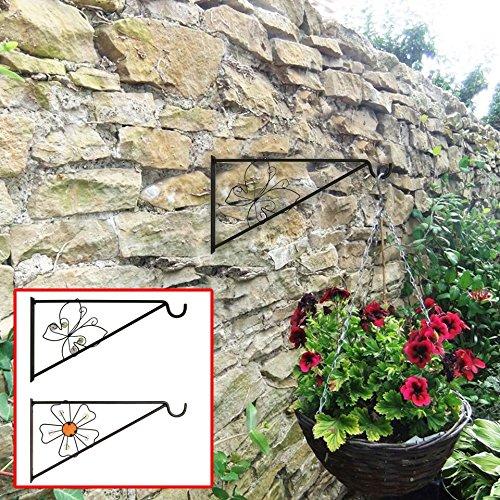 Gardman Nature dekorativ schwarz Schmetterling aus Metall zum aufhängen Wand Antik Halterung Korb...