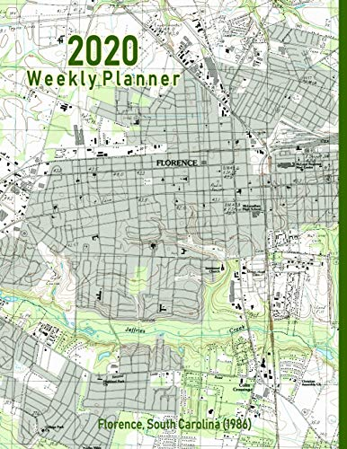 2020 Weekly Planner: Florence, South Carolina (1986): Vintage Topo Map Cover - Florence Antique Print