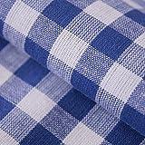 Hans-Textil-Shop Stoff Meterware Karo 1x1 cm Blau Baumwolle