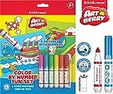 6niños marcador + 2malvorlagen Set, Coloración, pintados, colorear