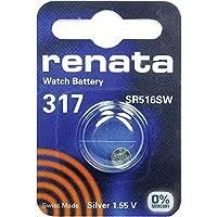 317 (SR516SW) Batteria Pulsante / Ossido D'argento 1.55V / per