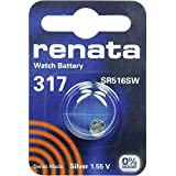 317 (SR516SW) Pila de Botón / Silver Oxide 1.55V / para Los Relojes, Linternas, Llaves del Coche, Calculadoras, Cámaras, etc / iCHOOSE