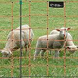 VOSS.farming Premium Elektronetz 90cm farmNET 50m Schafzaun Ziegennetz 14 Pfähle 1 Spitze orange
